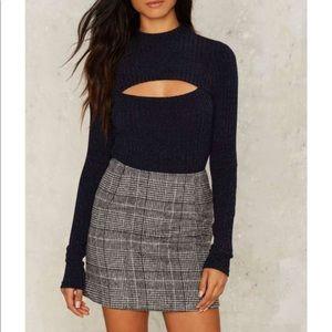Nasty Gal Pleated Skirt